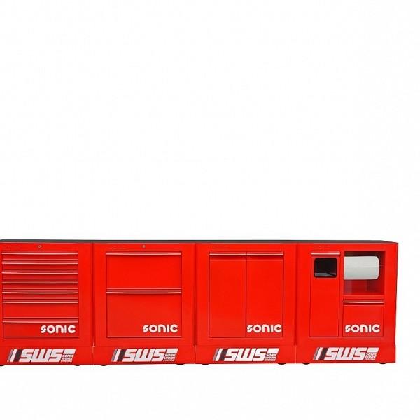 4- delni SONIC sestav SWS v rdeči barvi