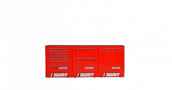 3- delni SONIC SWS sestav v rdeči barvi